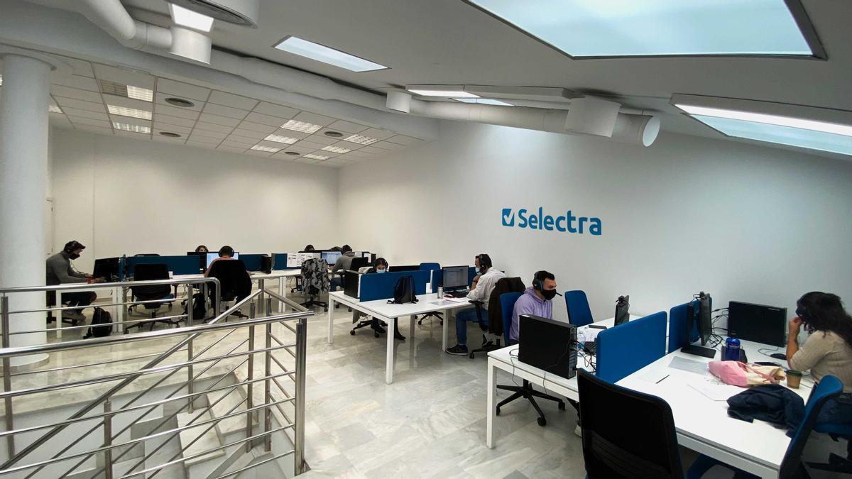 Oficina de Selectra en València.