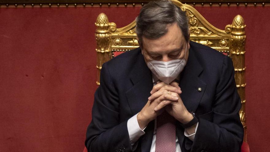 Draghi obtiene la confianza en el Senado, primer trámite para su investidura
