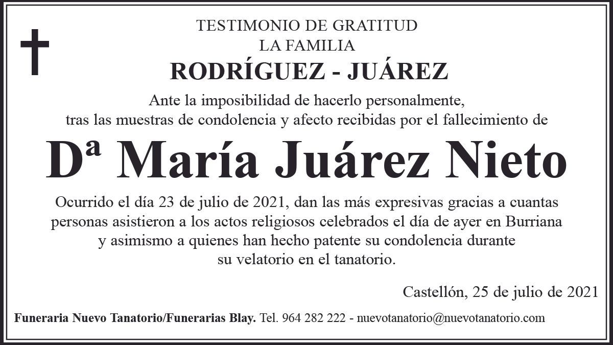 Dª María Juárez Nieto