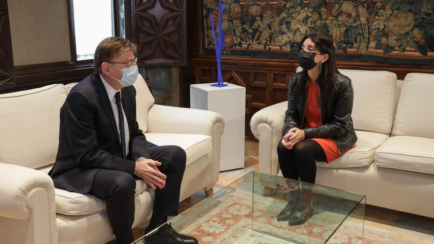 La nueva portavoz de Cs garantiza a Puig una oposición constructiva