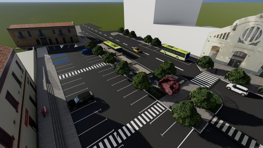 Vila-real presenta la imagen exterior de la estación de trenes:  nuevos árboles y aspecto moderno