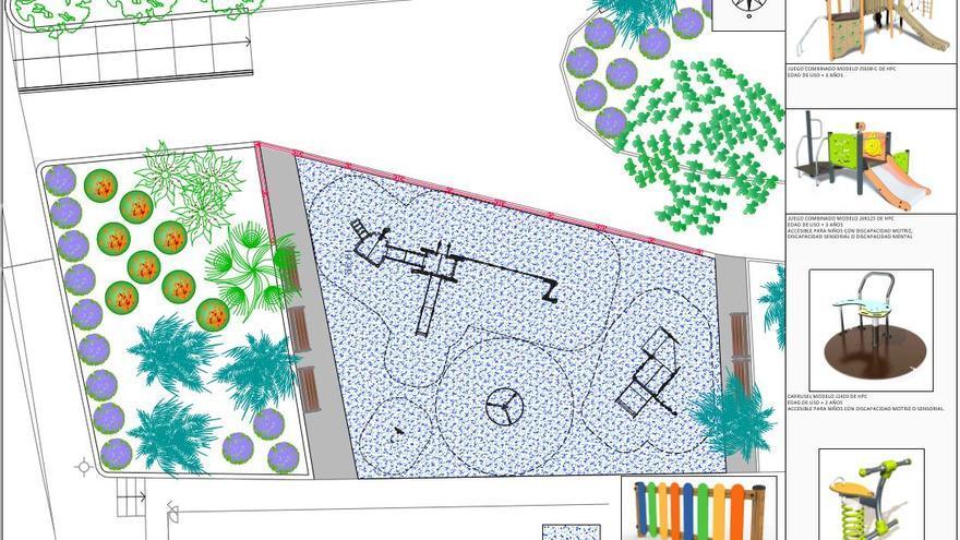 """El """"Parque del Barrio"""" en Virgen del Remedio tendrá juegos inclusivos"""