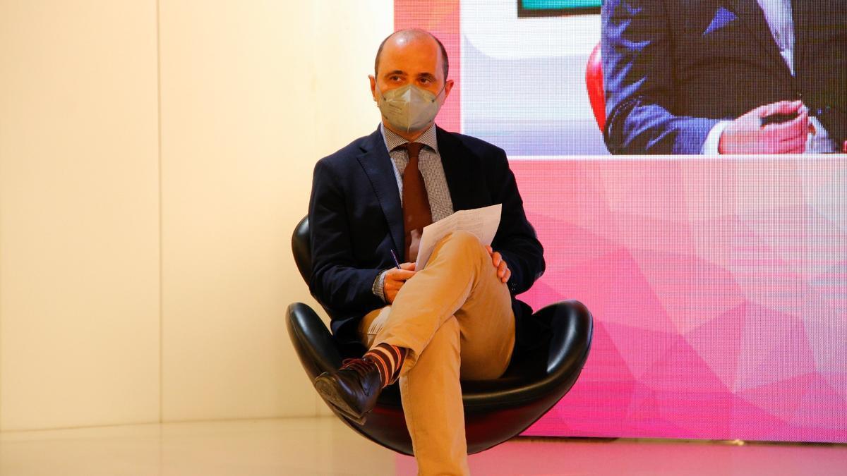 El director del INFO, Joaquín Gómez, durante el evento 'i-Talk Industria 4.0'