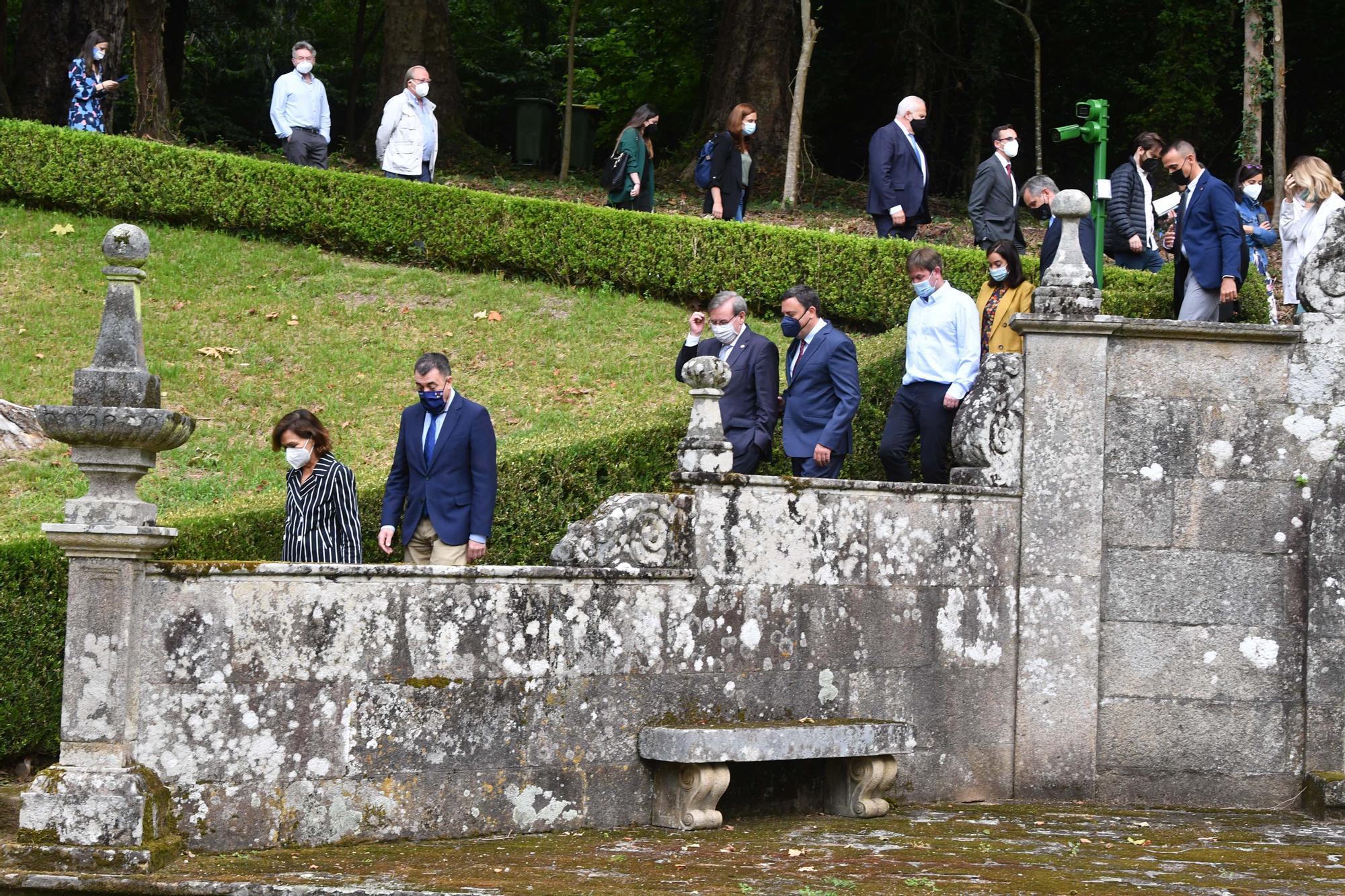 Acto oficial de la apertura de las jardines del pazo de Meirás