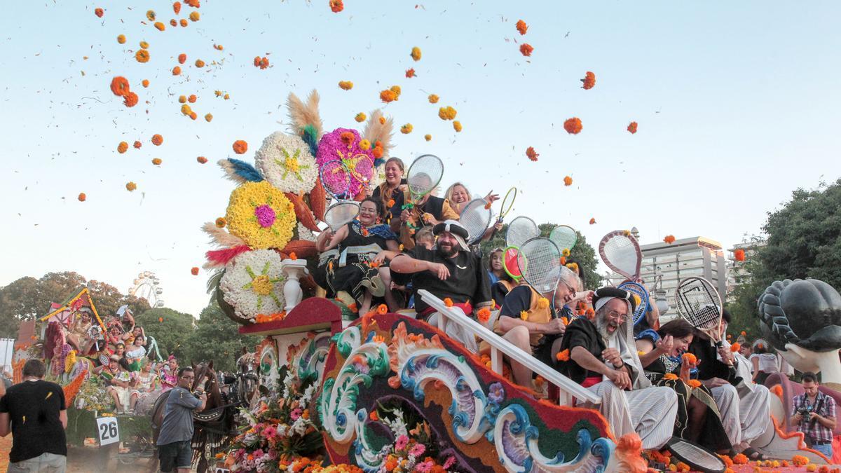 Imagen de la batalla de flores del año 2019, la útima que se ha celebrado.