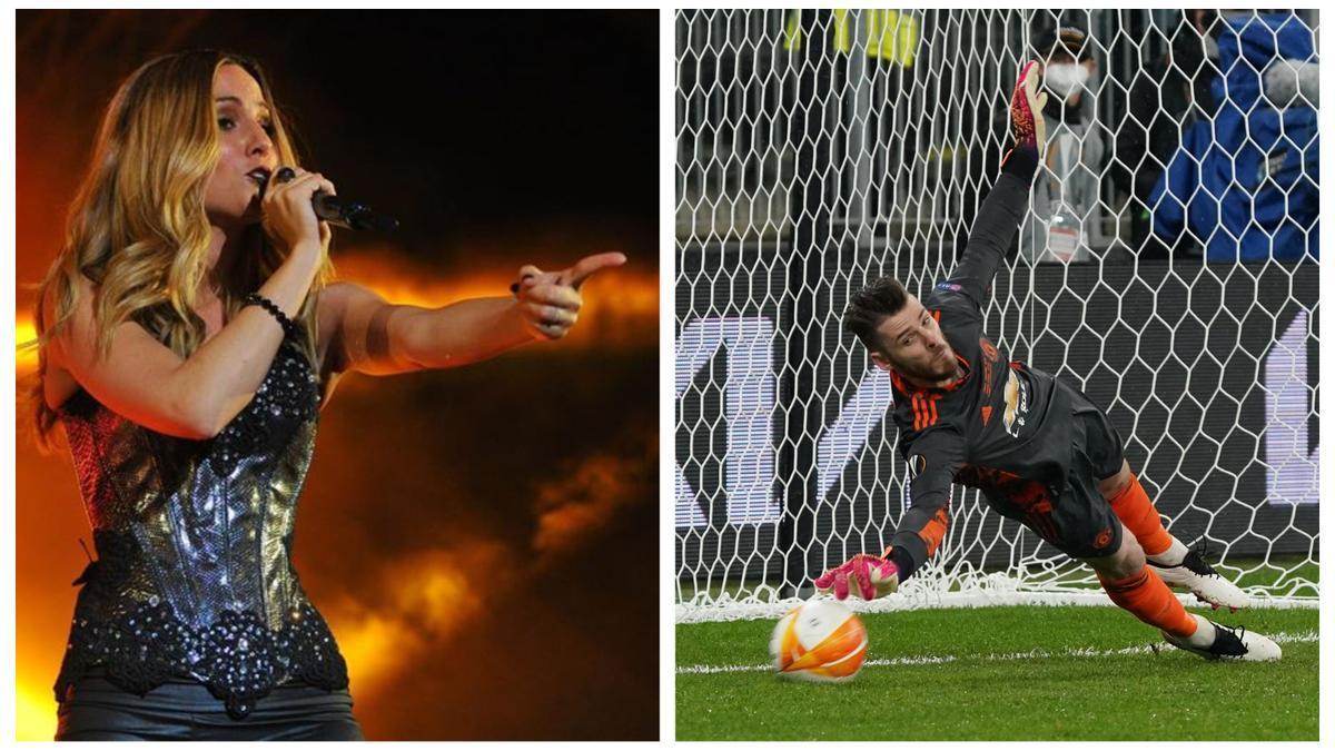 Edurne y De Gea mantienen una relación sentimental que ha provocado las burlas hacia la cantante por la actuación del portero en la final de Europa League.