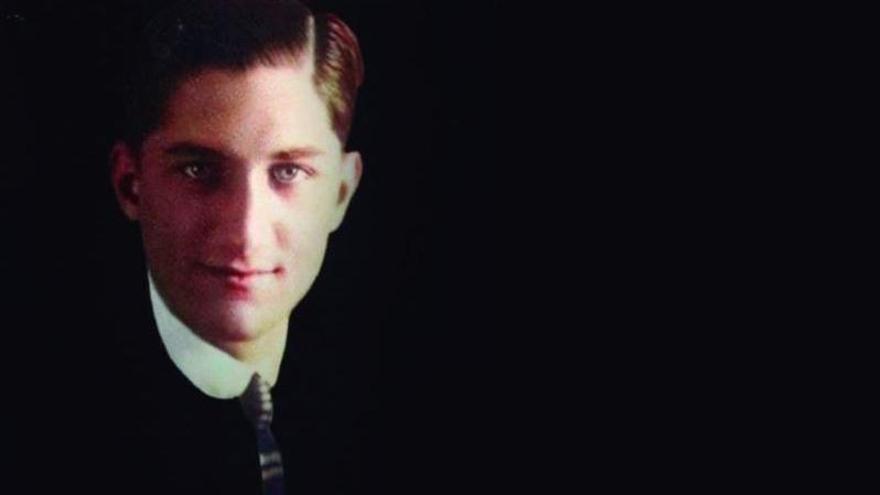 Retrato de Wenceslao Perdomo  Benítez, teniente médico canario que  perdió la vida en Annual. (L) eld