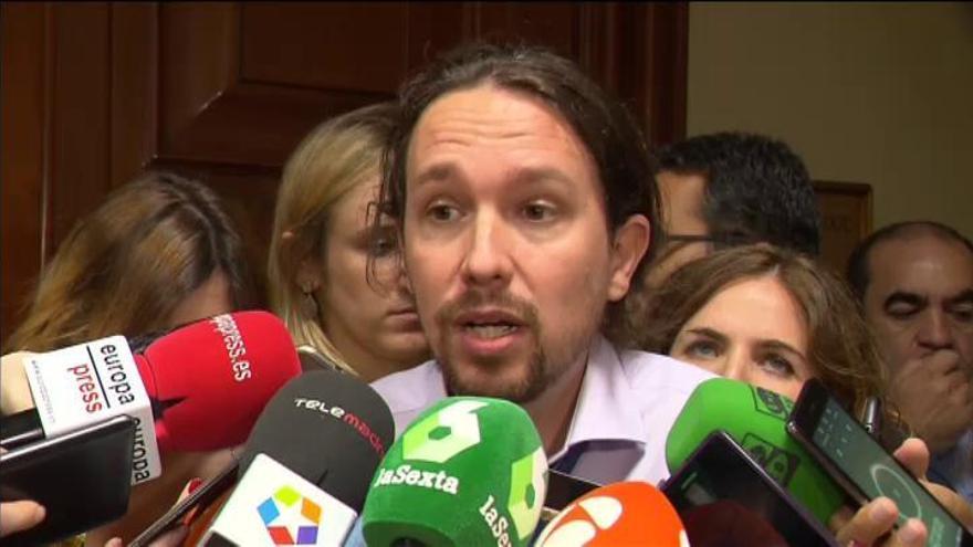 """Iglesias cree que se debe facilitar la consulta catalana """"por todos los medios"""""""
