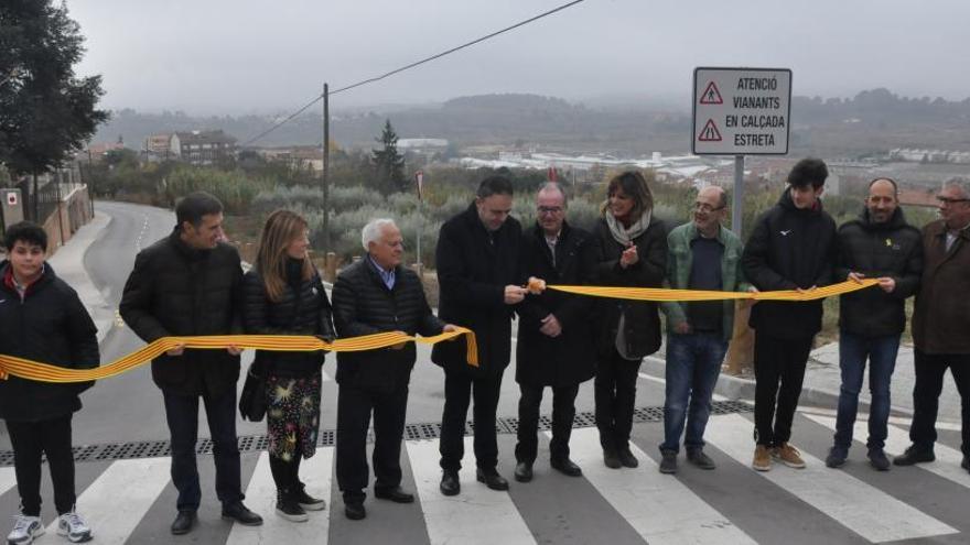 L'Ajuntament de Manresa destaca la seguretat del camí de la Gravera en una inauguració tardana