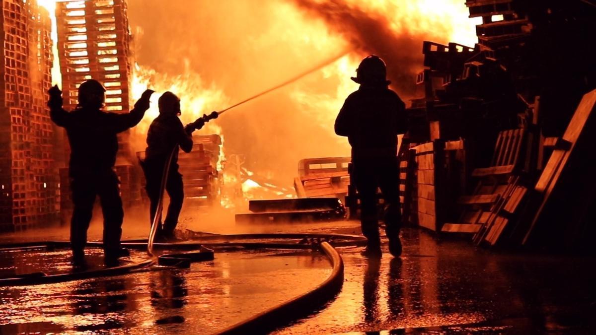 Una intervención de los bomberos durante el pasado año 2020