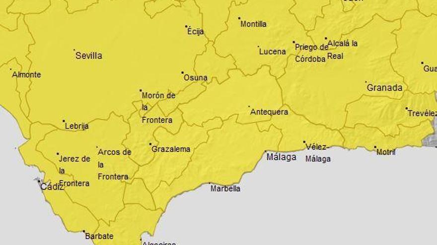 Málaga entra en alerta amarilla por lluvia