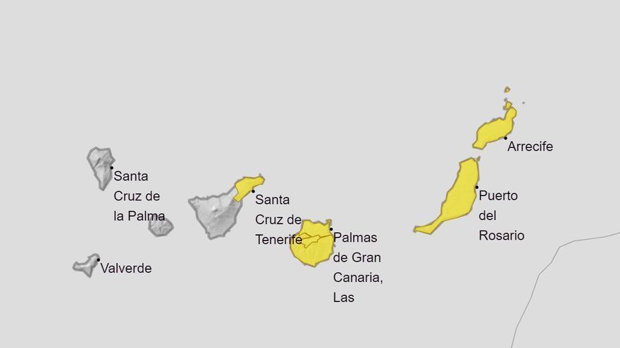 Declarada la alerta por lluvias en Lanzarote y Fuerteventura