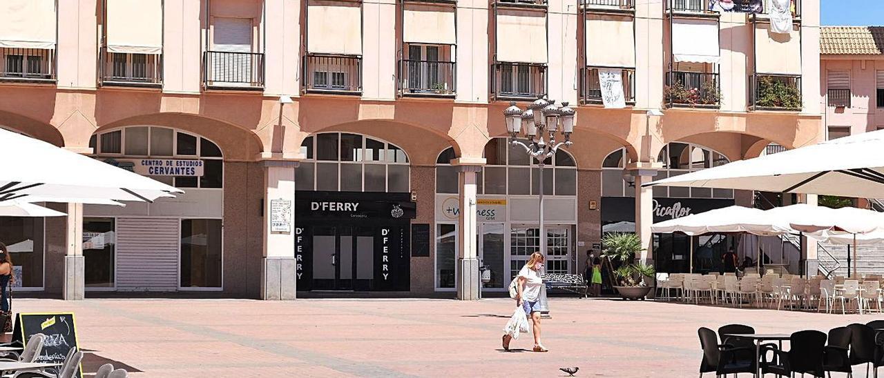 La plaza mayor de Elda, el área urbana con el menor coste de vida de España.   