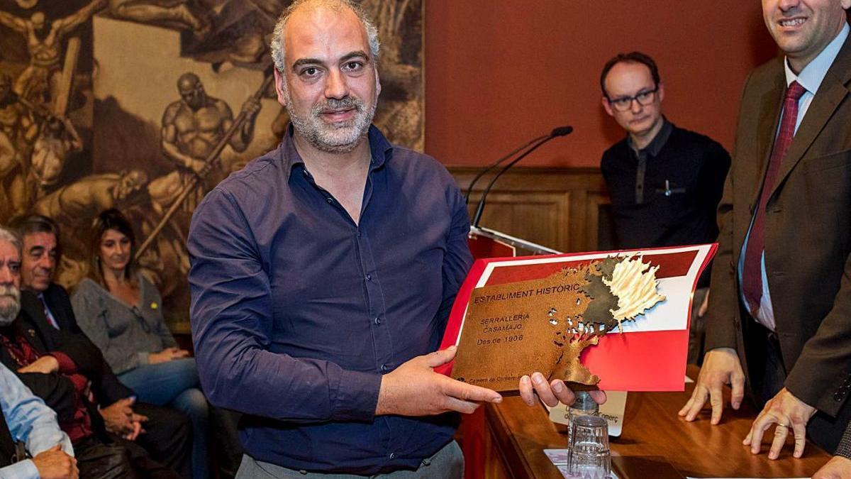 L'alcalde de Ger, Alfons Casamajó, que s'ha postulat per Junts i es presenta a les primàries
