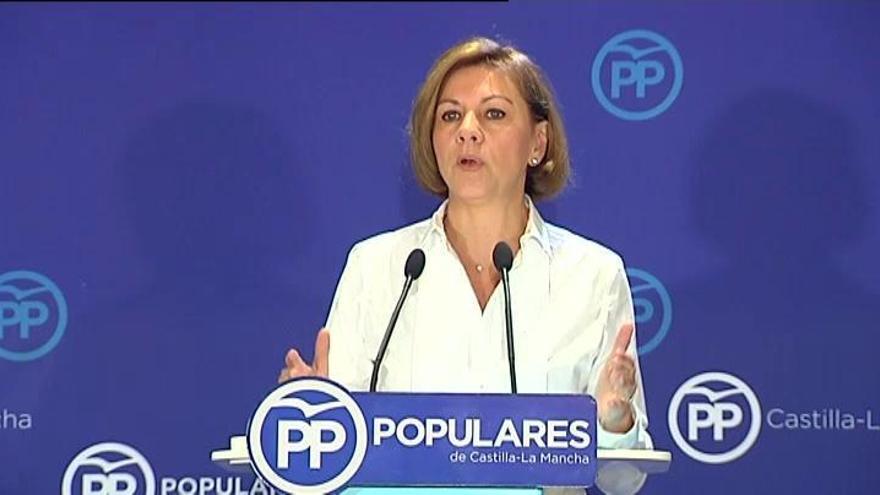 Cospedal pide a Cs que no actúe de muleta del PSOE