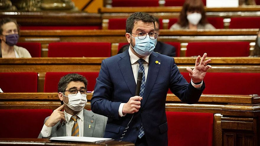 Pere Aragonès, ahir al Parlament | EP