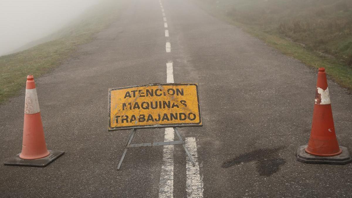 Una señal, en el puerto de La Cubilla
