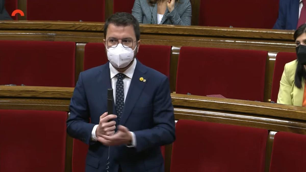 El vicepresidente de la Generalitat en funciones, Pere Aragonès.