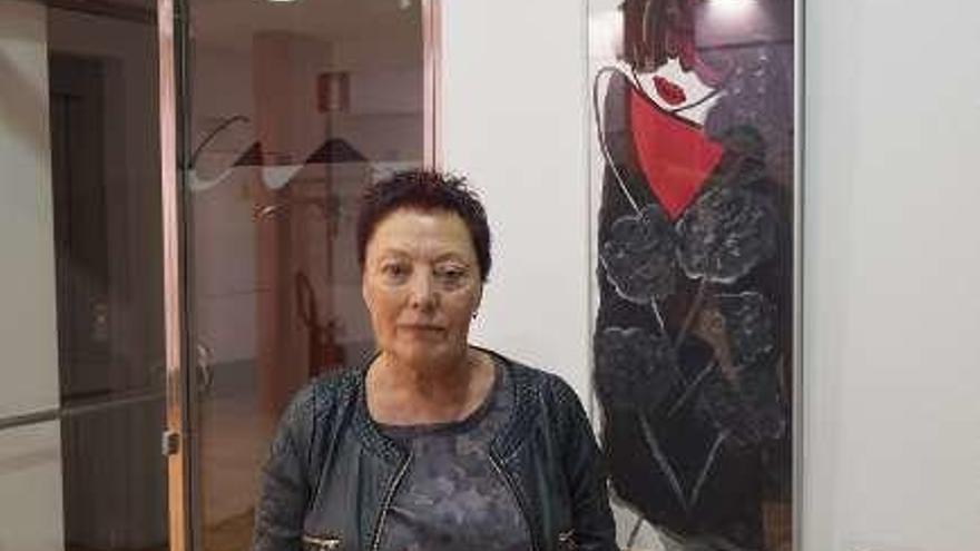 """Chelo Sanjurjo lleva su última obra, """"Solas"""", a la galería Alfara"""