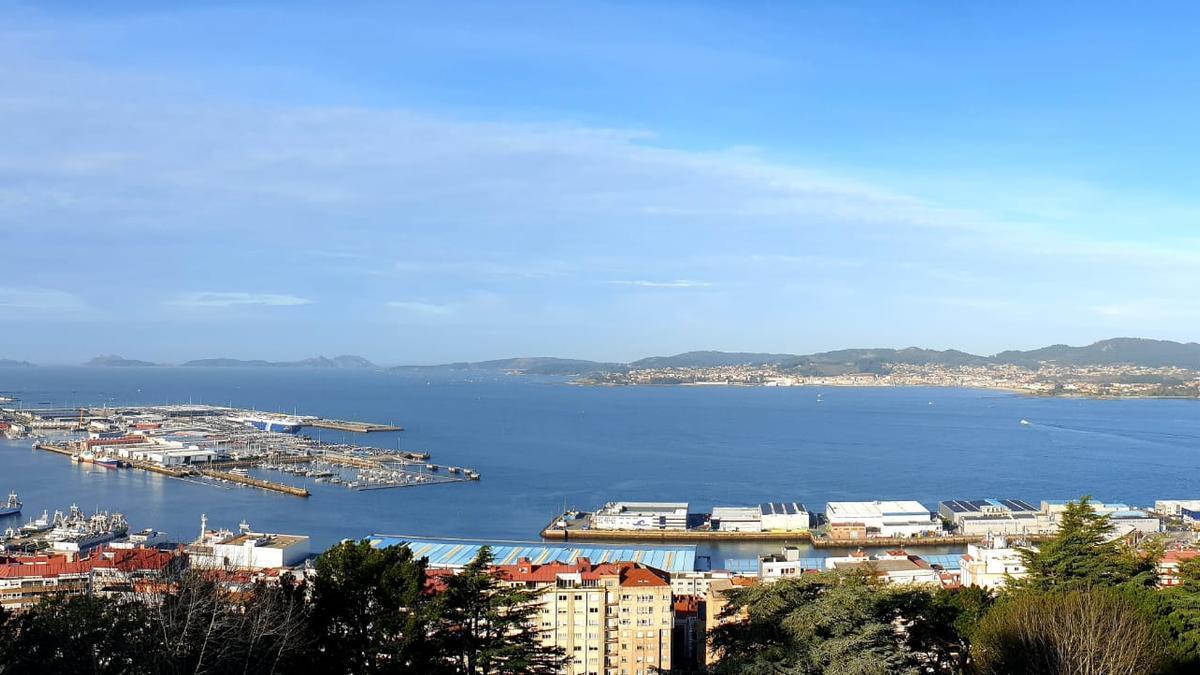 Foto de archivo de la ría de Vigo.
