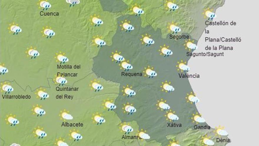 El tiempo en Valencia este fin de semana vuelve de nuevo a cambiar de manera brusca, según la previsión de la Aemet.
