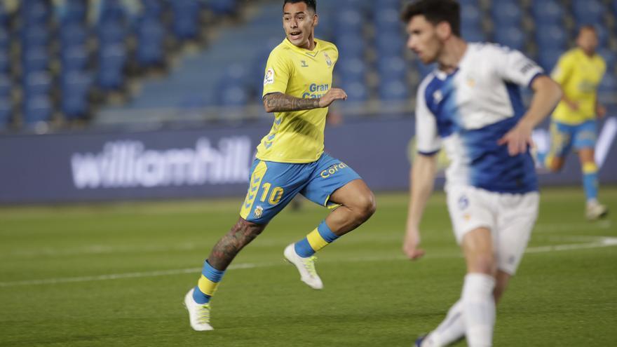 Polémica expulsión del portero amarillo Álex Domínguez y derrota de la UD Las Palmas ante el Sabadell (0-1)