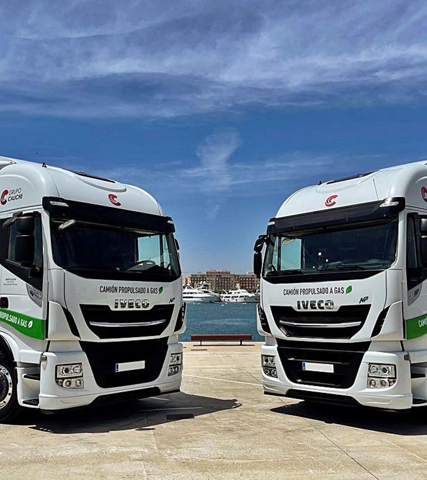 Grupo Caliche renueva su flota con camiones impulsados por gas