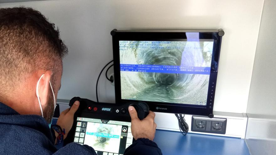 Emproacsa inspecciona las redes de saneamiento de la provincia de Córdoba con una cámara robotizada