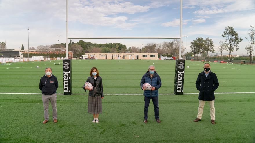 La Fundación Trinidad Alfonso crean un nuevo campo de rugby en Picanya