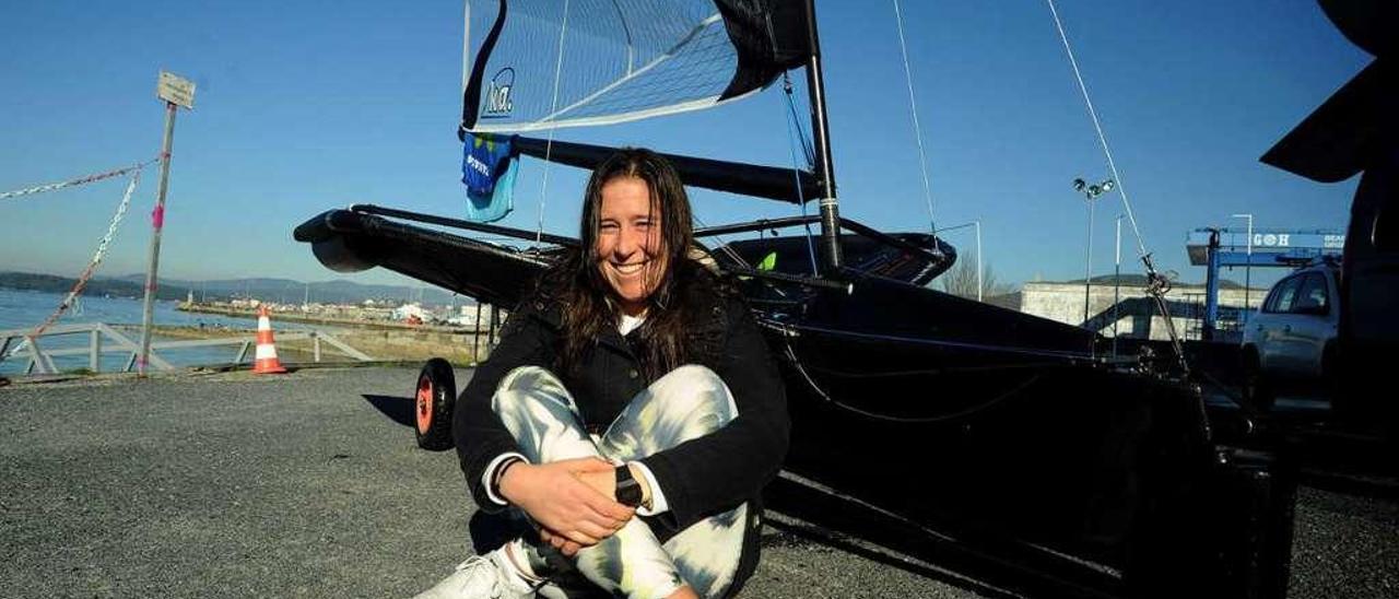 Tamara Echegoyen es una de las participantes en la concentración del Centro Galego de Vela. // I. Abella