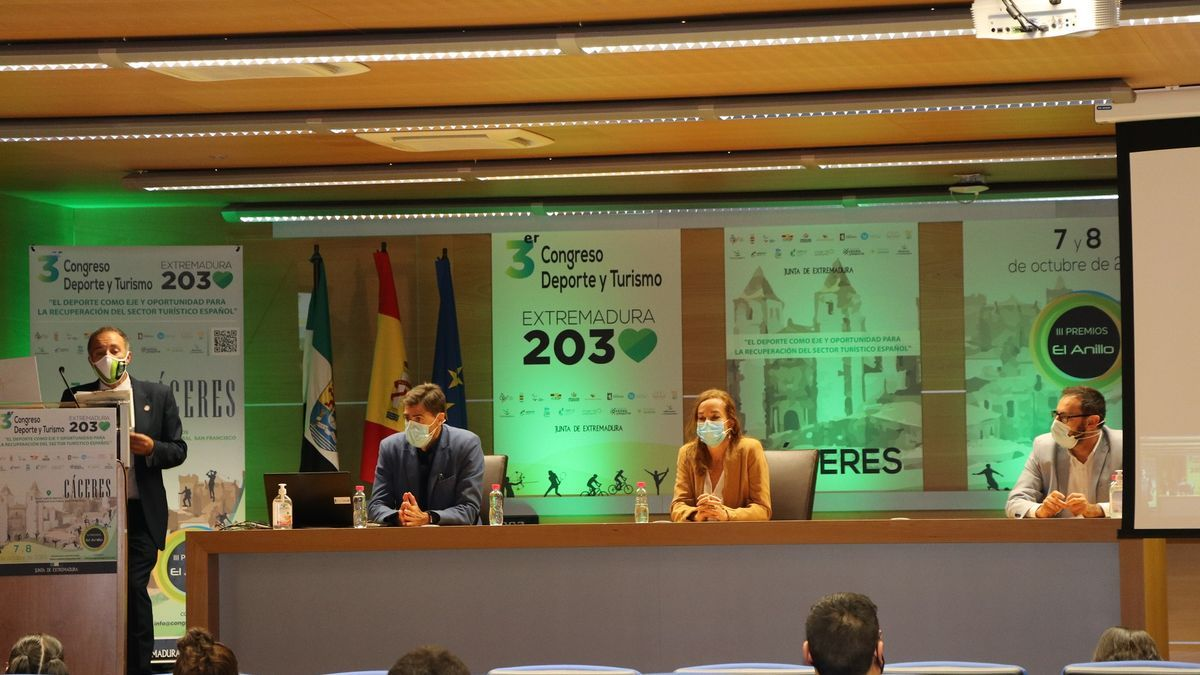 Imagen del III Congreso Deporte y Turismo 'Extremadura 2030'.