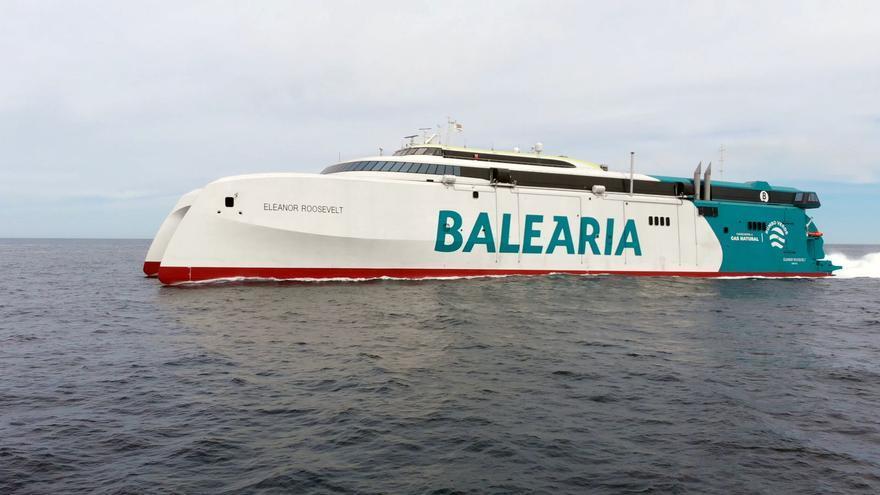 """Baleària empezará a operar el 1 de mayo en Baleares con el primer """"fast ferry"""" a gas natural"""