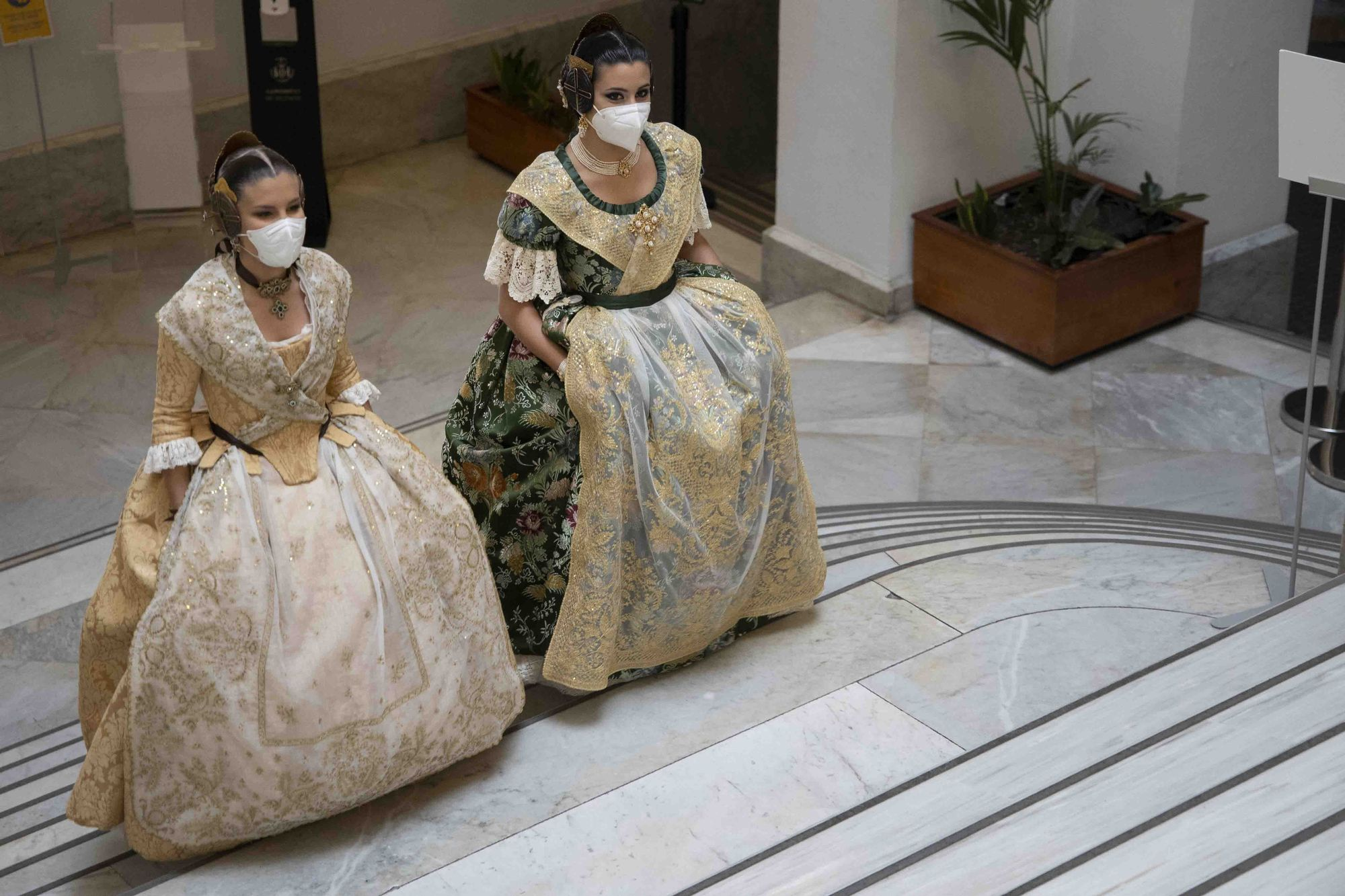 Ensayo de la proclamación de las Falleras Mayores de València 2022