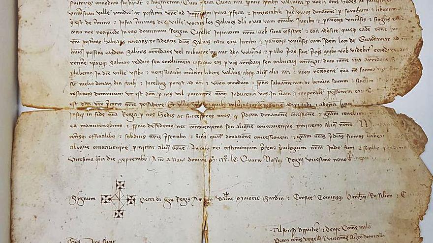 Cultura adquiere para Orihuela un pergamino de 1364