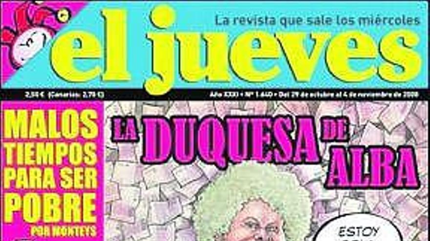 La duquesa de Alba pidió el secuestro  de una revista