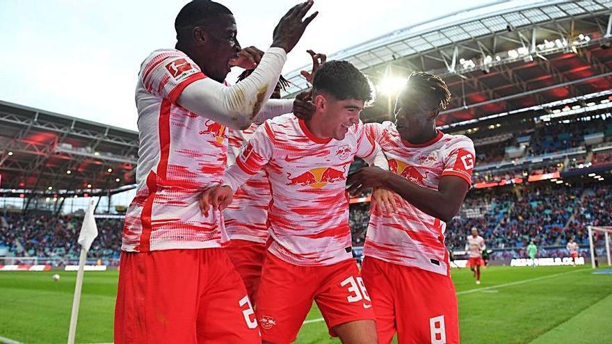 Estreno con gol de Novoa en el Leipzig