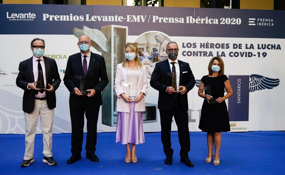 Quinta entrega de los premios Levante a los héroes frente a la pandemia de la Covid-19