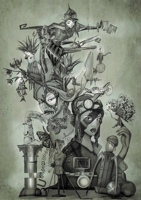 """Cuba-Literato Azorín. """"Collage"""", de Vicente Martínez Aparici"""