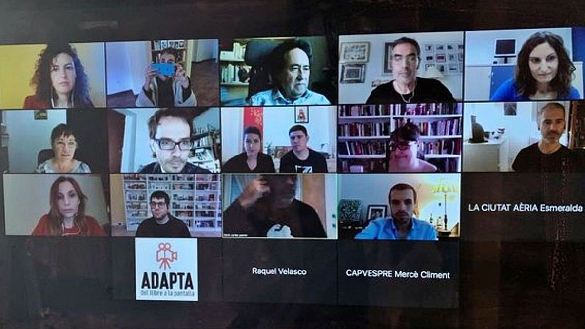 Un moment de la trobada virtual entre editorials i productores. | AEPV