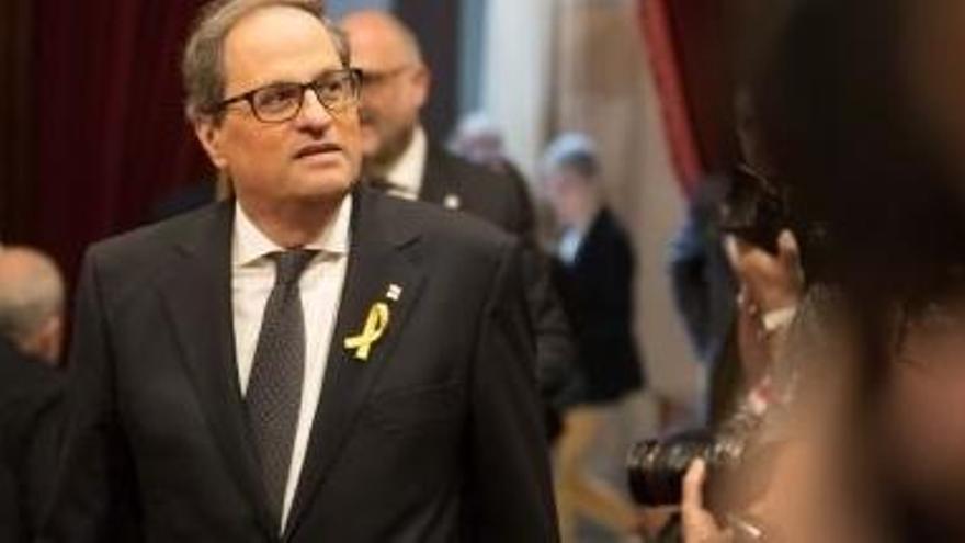 """Torra: """"Com a Bèlgica, la justícia acabarà guanyant també a l'estat espanyol"""""""