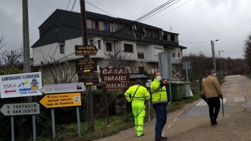 La Diputación busca fugas de agua en las tuberías de Valdespino