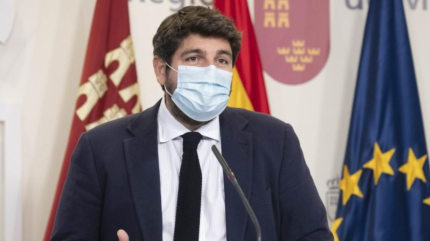 "López Miras: ""El coronavirus llegó a Murcia a través de un vuelo de Barajas"""