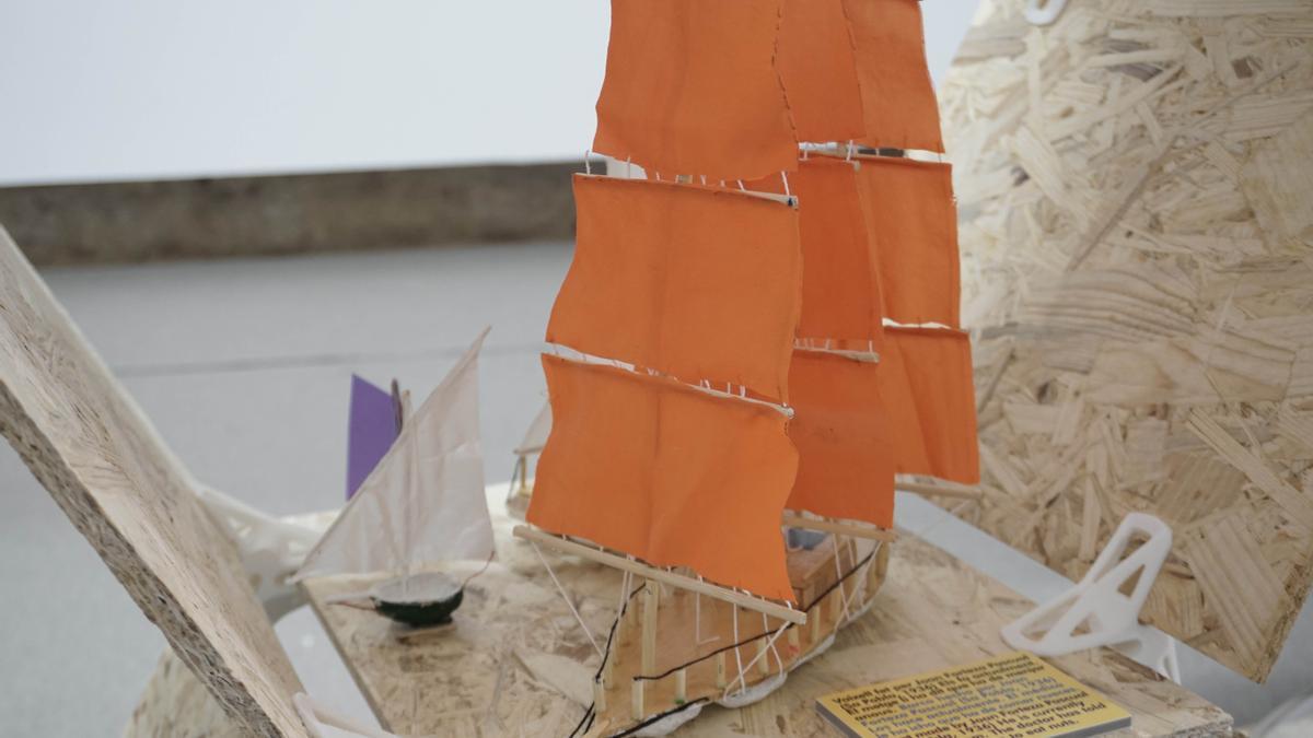Exposición de barcos en miniatura