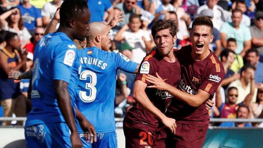 La aparición de Denis Suárez desatasca al Barça en Getafe
