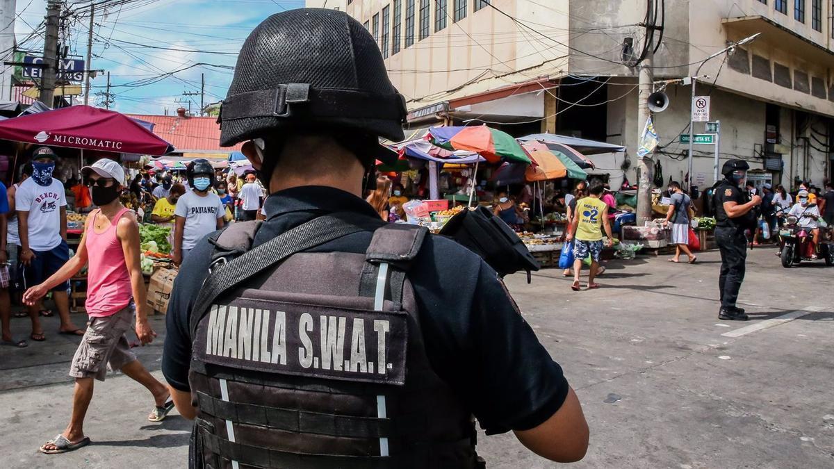 Despliegue de fuerzas especiales en Manila.
