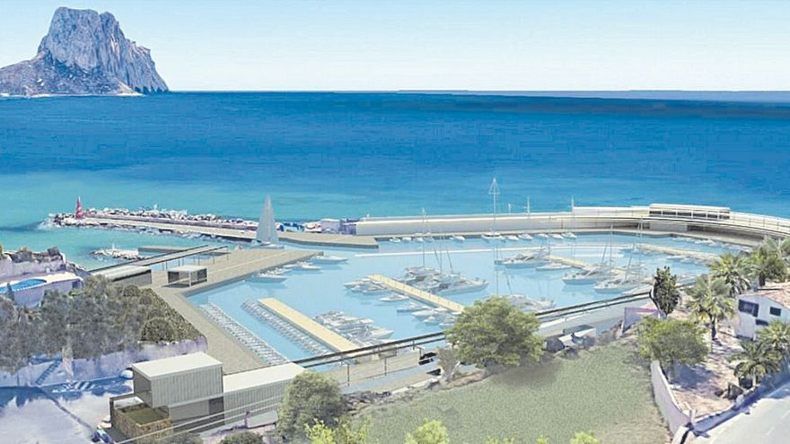 """El """"nuevo"""" puerto deportivo de Calp tendrá un gran paseo con vistas al Penyal y Toix"""