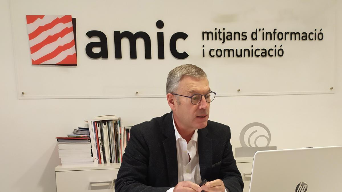 El president de l'Amic, Ramon Grau, durant l'assemblea anual de l'entitat, celebrada en format virtual