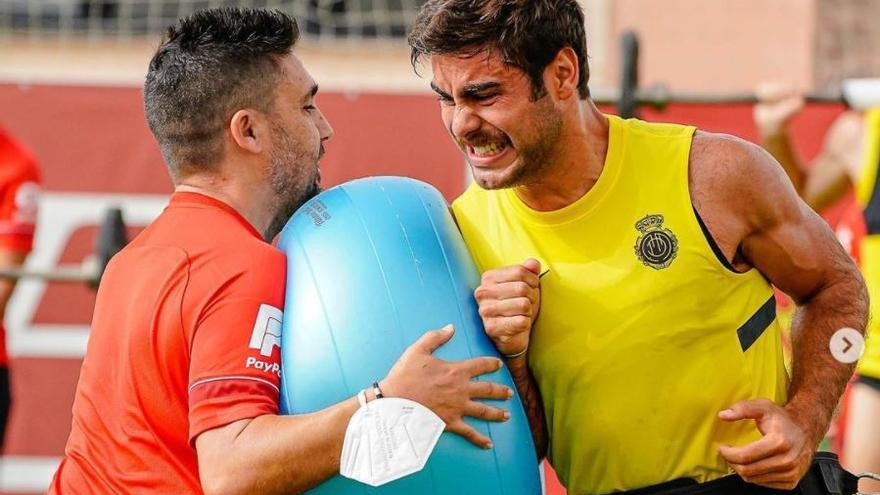 Una cuarentena preocupante para Abdón Prats, delantero del Mallorca