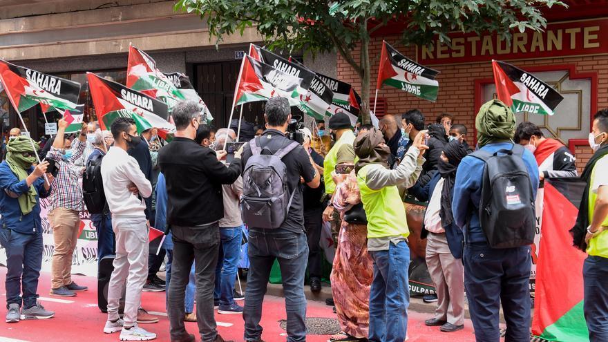 Manifestación pro saharaui ante el consulado marroquí