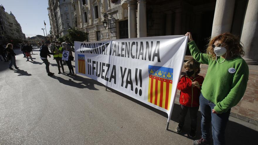 El personal temporal retoma en València las movilizaciones para exigir fijeza